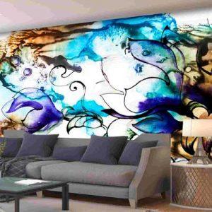 پوستر دیواری طرح آب رنگی