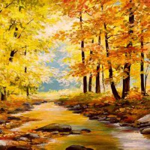 پوستر دیواری طرح برکه پاییز