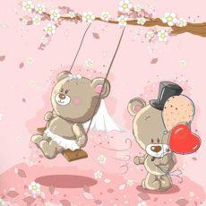 خرید پوستر دیواری دخترانه طرح خرس
