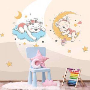 فروش پوستر دیواری طرح ماه و ستاره