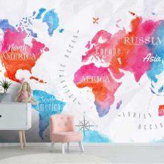 خرید پوستر سه بعدی دیواری طرح آبرنگی