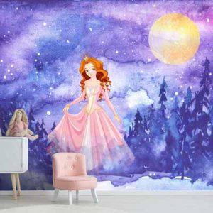 خرید پوستر دیواری دخترانه طرح پرنسس