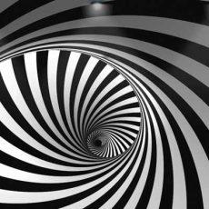 پوستر سیاه سفید سه بعدی