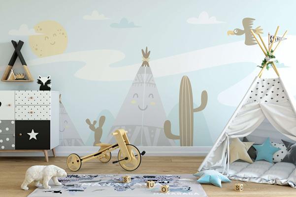 کاغذ دیواری اتاق کودک باید چگونه باشد ؟